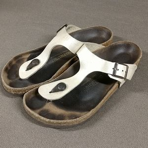 Birkenstock pearl leather Gizeh L6/M4